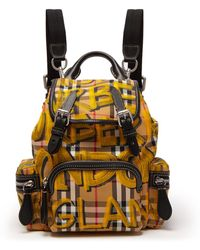 Burberry - Small Graffiti And Vintage Check-print Backpack - Lyst