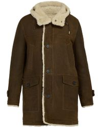 Yves Salomon - Hooded Shearling Lined Leather Coat - Lyst