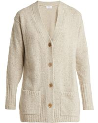 Allude - V-neck Cashmere Cardigan - Lyst