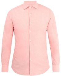 Glanshirt - Long Sleeved Slim Fit Cotton Shirt - Lyst