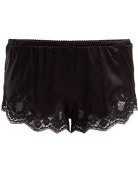 Dolce & Gabbana - Lace-trimmed Silk-blend Shorts - Lyst