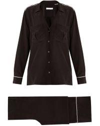 Equipment - Sonny Long-sleeved Silk Pyjama Set - Lyst