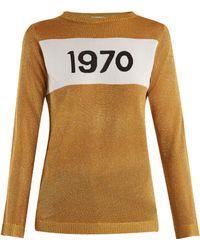 Bella Freud - Sparkle 1970 Jumper Gold - Lyst