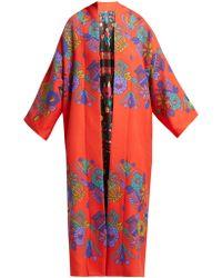 Rianna + Nina - Freia Floral Print Wool Coat - Lyst