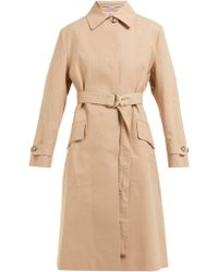 Stella McCartney - Single Breasted Cotton Trench Coat - Lyst