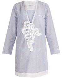 lila.eugénie - 1817 Deep V-neck Striped-cotton Shirt - Lyst