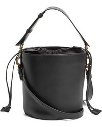 J.W.Anderson - Bucket Leather And Canvas Tote - Lyst