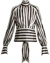 Petar Petrov - Eyre Striped Silk Blouse - Lyst
