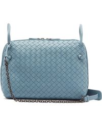Bottega Veneta Nodini Small Intrecciato Leather Cross-body Bag in ... 5322679bcacb5
