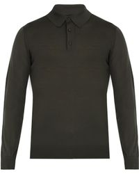 Ermenegildo Zegna - Long-sleeved Wool Polo Shirt - Lyst
