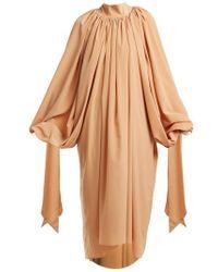 Awake - Gathered Crepe Dress - Lyst