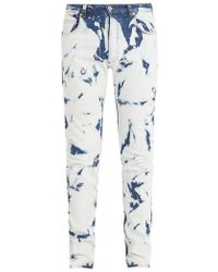 Loewe - X William Morris Slim-leg Bleached-denim Jeans - Lyst
