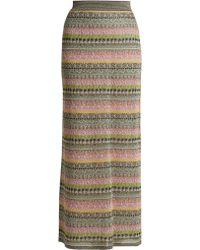 Missoni - Striped Metallic Maxi Skirt - Lyst