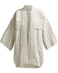Queene And Belle - Kitami Cable-knit Wool Cardigan - Lyst