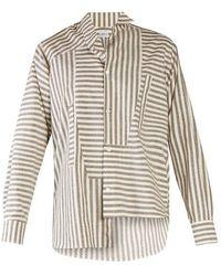Loewe - Multi-striped Step-hem Shirt - Lyst