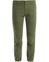 Nili Lotan - Mid-rise Stretch-cotton Military Trousers - Lyst