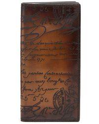 Berluti - Santal Bi-fold Leather Travel Wallet - Lyst