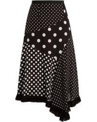 Andrew Gn - Polka Dot Asymmetrical Midi Skirt - Lyst