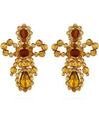 Simone Rocha - Boucles d'oreilles à pendant cristaux et perles - Lyst