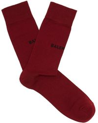 Balenciaga - Logo-intarsia Cotton-blend Socks - Lyst