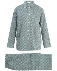 Derek Rose - Ledbury 5 Cotton-batiste Pyjama Set - Lyst