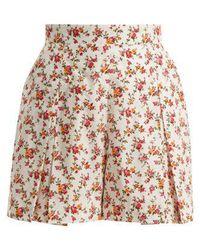 Emilia Wickstead - - Short en coton à imprimé fleuri Leslie - Lyst
