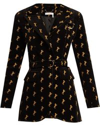 Chloé | Horse-embroidered Cotton-blend Velvet Jacket | Lyst