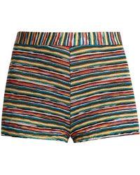 Missoni - Striped Knit Hotpant Shorts - Lyst