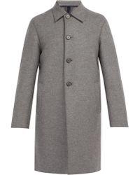 Harris Wharf London - Single Breasted Wool Overcoat - Lyst