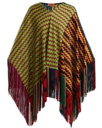 Missoni - Wave Laddered Knitted Poncho - Lyst