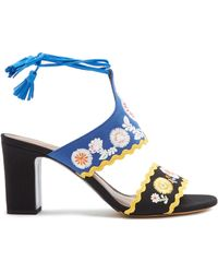 Tabitha Simmons - Thais Embroidered Sandals - Lyst