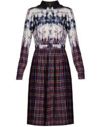 Altuzarra - Tie-dye Plaid Shirt Dress - Lyst