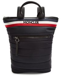 Moncler - Cerro Logo-embroidered Quilted Backpack - Lyst