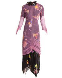 Preen By Thornton Bregazzi - Lynn Floral-print Tulle-overlay Dress - Lyst