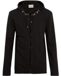 Helmut Lang - Stud-embellished Hooded Sweatshirt - Lyst