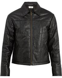 Saint Laurent - Point-collar Quilted-leather Jacket - Lyst
