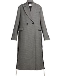 Stella McCartney - Oversized Double-breasted Houndstooth Coat - Lyst