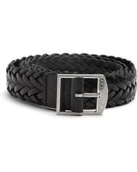 A.P.C. - Gael Braided-leather Belt - Lyst