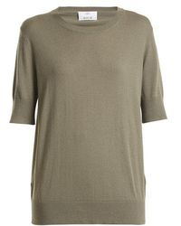 Allude - Round-neck Cotton-blend T-shirt - Lyst
