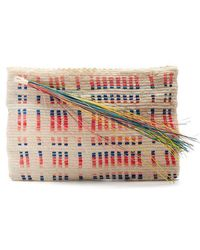 Lia Tasseled Woven Clutch - Off-white Sophie Anderson dx8DLM