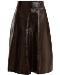Jil Sander - Ethic Coated-cotton A-line Skirt - Lyst