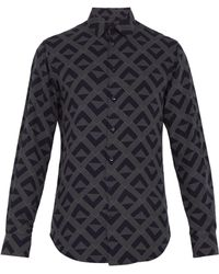 Giorgio Armani - Geometric Print Lyocell Shirt - Lyst