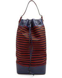 Loewe - Striped Canvas Tote Bag - Lyst