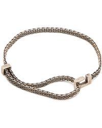 Title Of Work - Macro-mesh Narrow Sterling-silver Bracelet - Lyst
