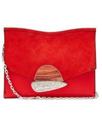 Proenza Schouler - Curl Small Suede And Leather Clutch - Lyst