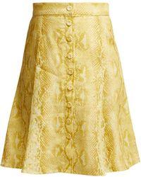 Emilia Wickstead - Ines Python Print Linen Skirt - Lyst