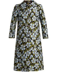 Dolce & Gabbana - Single Breasted Floral Jacquard Coat - Lyst