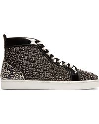 Christian Louboutin - Louis Orlato High Top Patent Leather Trainers - Lyst
