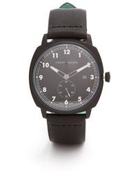 Larsson & Jennings - - Mk I Pilot Stainless Steel And Leather Watch - Mens - Black - Lyst