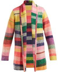 The Elder Statesman - Italy Intarsia Stripe Cashmere Smoking Jacket - Lyst